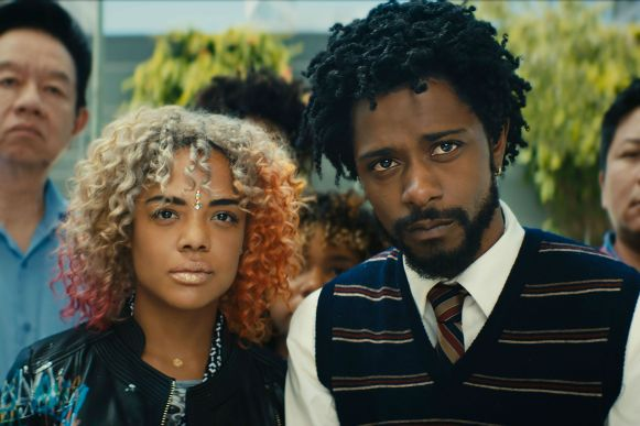 Sorry-To-Bother-You-2-Tessa-Thompson-and-Lakeith-Stanfield